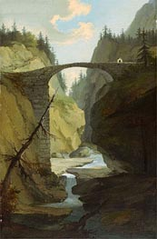 Bridge over the Muota near Schwyz, Undated von Caspar Wolf | Gemälde-Reproduktion