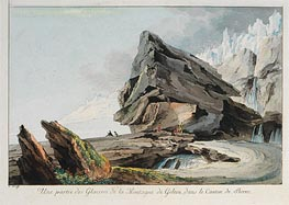 Part of Glacier Mountain Gelten in the Canton of Bern | Caspar Wolf | Gemälde Reproduktion