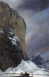 Second Staubach Falls in Winter | Caspar Wolf | veraltet