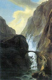 Devil's Bridge in the Schoellenen | Caspar Wolf | Gemälde Reproduktion