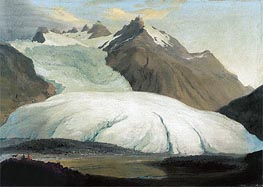 The Rhone Glacier Seen from the Valley at Gletsch | Caspar Wolf | Painting Reproduction