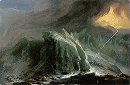 Thunder and Lightning at the Grindwaldgletscher | Caspar Wolf | Painting Reproduction