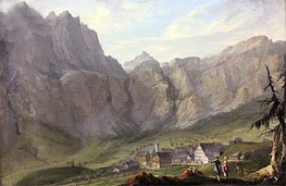 Leuekerbad, c.1774/77 by Caspar Wolf | Painting Reproduction