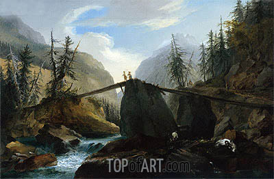 Caspar Wolf | Wooden Bridge over the Lutschine near Gsteig, c.1774/77