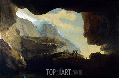 The Crystal Cave, 1778 | Caspar Wolf | Gemälde Reproduktion