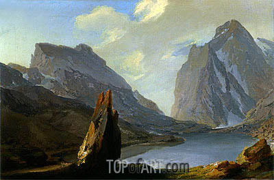 Alpine Landscape,  | Caspar Wolf| Painting Reproduction