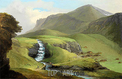 The Bachalp above Grindelwald,  | Caspar Wolf| Painting Reproduction
