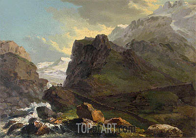 Old Way at the St Gotthard,  | Caspar Wolf | Painting Reproduction