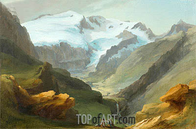 Caspar Wolf | Look at the Lauenen Valley with Geltengletscher and Geltenhorn,