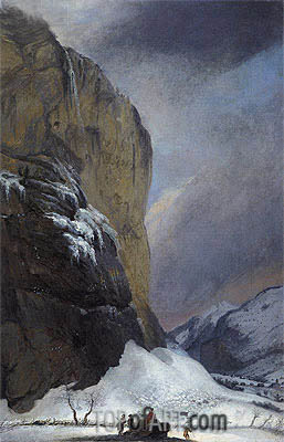 Second Staubach Falls in Winter, undated | Caspar Wolf | Gemälde Reproduktion