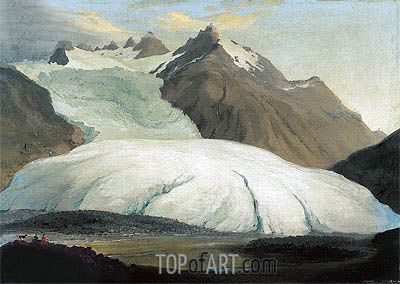 The Rhone Glacier Seen from the Valley at Gletsch, 1778 | Caspar Wolf| Painting Reproduction