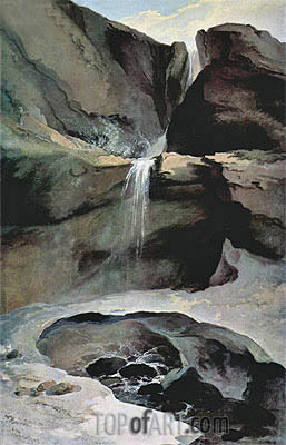 Caspar Wolf | The Geltenbachfall im Winter, 1778