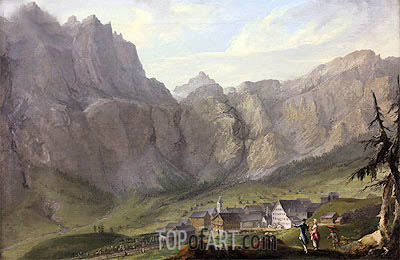 Leuekerbad, c.1774/77 | Caspar Wolf| Painting Reproduction