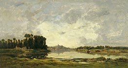 Conflans, 1874 by Charles-Francois Daubigny   Painting Reproduction