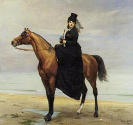 Mademoiselle Croizette as an Amazon, 1873 by Carolus-Duran | Painting Reproduction