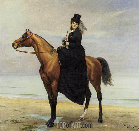 Mademoiselle Croizette as an Amazon, 1873 | Carolus-Duran | Painting Reproduction