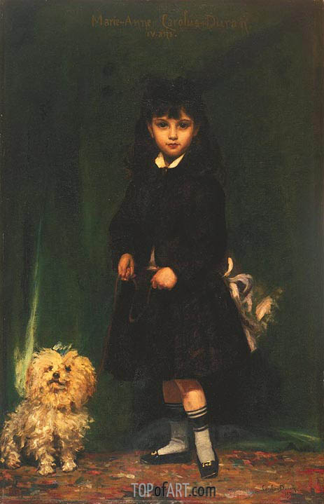 Marie-Anne Carolus-Duran (The Artist's Daughter), 1874 | Carolus-Duran | Gemälde Reproduktion