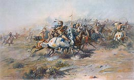 The Custer Fight, c.1903/05 by Charles Marion Russell | Painting Reproduction