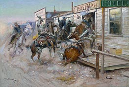 In Without Knocking | Charles Marion Russell | Painting Reproduction