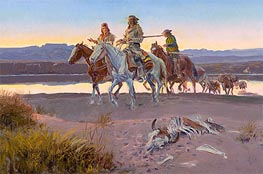 Carson's Men, 1913 by Charles Marion Russell | Painting Reproduction