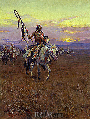 Medicine Man, 1916 | Charles Marion Russell| Painting Reproduction