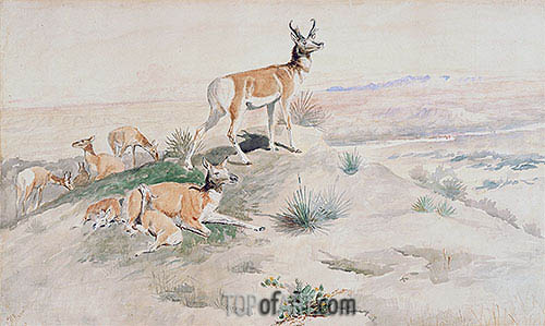 Charles Marion Russell | Antelope, 1894