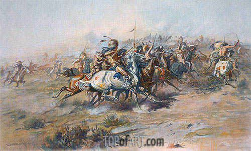 Charles Marion Russell | The Custer Fight, c.1903/05