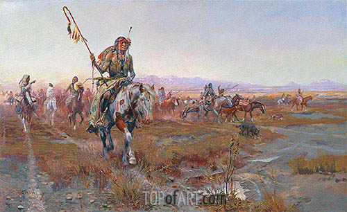 The Medicine Man, 1908 | Charles Marion Russell | Painting Reproduction