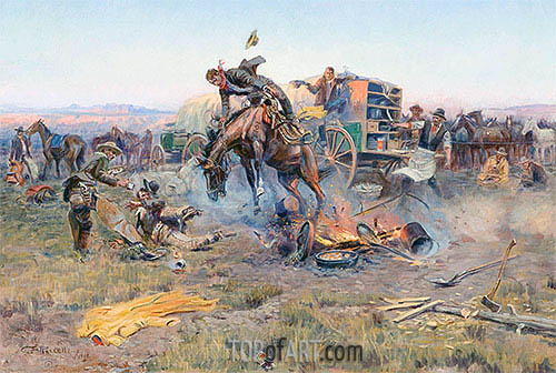 The Camp Cook's Troubles, 1912 | Charles Marion Russell | Painting Reproduction