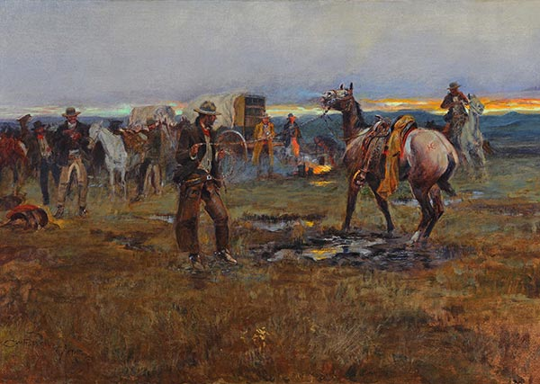 Charles Marion Russell | When Horses Talk There's Slim Chance for Truce, 1915
