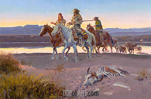 Carson's Men, 1913 | Charles Marion Russell| Painting Reproduction