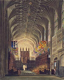 Interior of St. George's Chapel, Windsor Castle | Charles Wild | Painting Reproduction