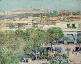 Place Centrale and Fort Cabanas, Havana | Hassam | Painting Reproduction