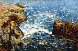 Surf and Rocks | Hassam | Painting Reproduction