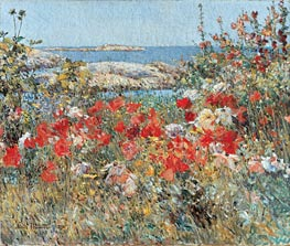 Celia Thaxter's Garden, Isles of Shoals, Maine | Hassam | outdated