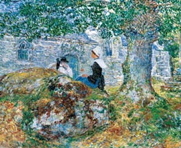 In Brittany, 1897 by Hassam | Painting Reproduction