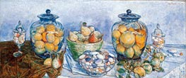 Long Island Pebbles and Fruit, 1931 by Hassam | Painting Reproduction