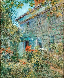 Old House and Garden, East Hampton, 1898 by Hassam | Painting Reproduction