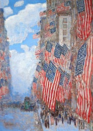The Fourth of July, 1916, 1916 by Hassam | Painting Reproduction