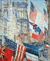 Allies Day, May 1917, 1917 von Hassam | Gemälde-Reproduktion