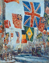 Avenue of the Allies, Great Britain, 1918, 1918 von Hassam | Gemälde-Reproduktion