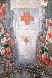 Red Cross Drive, May 1918 (Celebration Day), 1918 von Hassam | Gemälde-Reproduktion