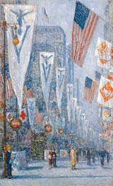 Victory Day, May 1919, 1919 von Hassam | Gemälde-Reproduktion