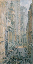 Lower Manhattan (View Down Broad Street), 1907 von Hassam | Gemälde-Reproduktion