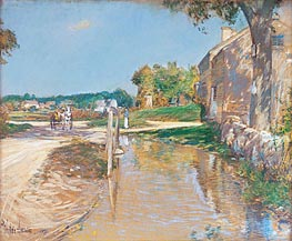 A Country Road, 1891 von Hassam | Gemälde-Reproduktion