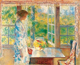 Bowl of Goldfish, 1912 von Hassam | Gemälde-Reproduktion