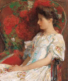 The Victorian Chair, 1906 von Hassam | Gemälde-Reproduktion