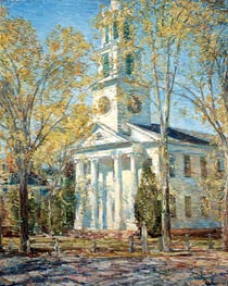 Church at Old Lyme, 1906 von Hassam | Gemälde-Reproduktion