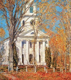 Church at Old Lyme, 1905 von Hassam | Gemälde-Reproduktion