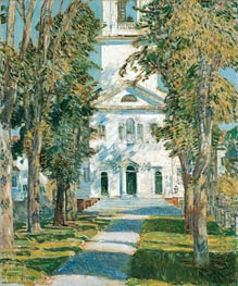 The Church at Gloucester, 1918 by Hassam | Painting Reproduction